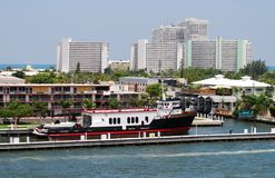 Daytime view of Ft Lauderdale Royalty Free Stock Images