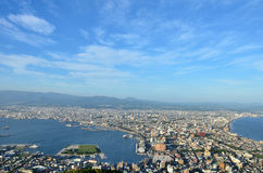 Daytime view of Hakodate. Royalty Free Stock Photos