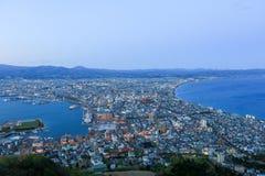 Daytime view of Hakodate, Hokkaido, Japan. Royalty Free Stock Images