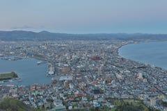 Daytime view of Hakodate, Hokkaido, Japan. Royalty Free Stock Image