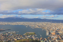 Daytime view of Hakodate, Hokkaido, Japan. Royalty Free Stock Photos
