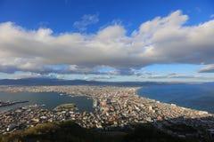 Daytime view of Hakodate, Hokkaido, Japan. Stock Images