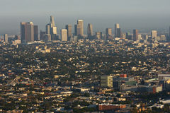 Daytime view of Los Angeles Royalty Free Stock Photos