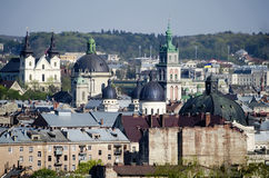 Daytime view of the Lvov city Royalty Free Stock Photo