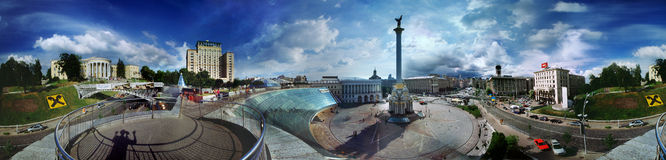 Daytime view of the Maidan Stock Photos