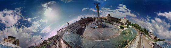 Daytime view of the Maidan Stock Image