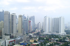 Daytime view in Manila from top of hotel Royalty Free Stock Photos