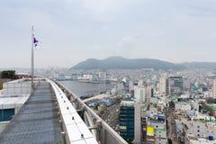 Daytime view over Busan city, Korea Stock Images