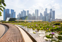 Daytime view of the Singapore CBD skyskrapers Royalty Free Stock Photography