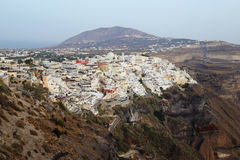 Daytime View of Thira on Santorini, Greece stock photos