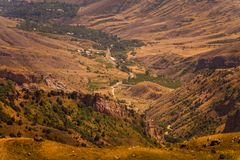Hills and Valley view in Armenia, Caucasus stock images
