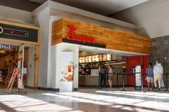 Dayton - около апрель 2018: Положение фаст-фуда цыпленока-fil- розничное Рестораны цыпленока-fil- закрыты в воскресенье i Стоковая Фотография RF