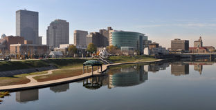 Dayton. A view of the skyline of Dayton, Ohio stock images