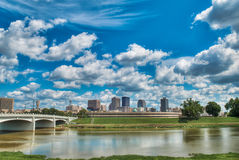 Dayton Ohio Skyline. A look at downtown Dayton, Ohio skyline from across a river Royalty Free Stock Photography