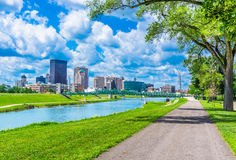 Dayton, Ohio skyline and the Great Miami River (P) Stock Image