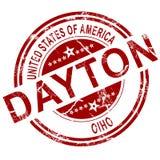 Dayton Ohio stamp with white background royalty free illustration