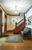 Victorian House Foyer with Open Stairway stock photography