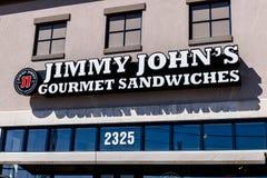 Dayton - Około Kwiecień 2018: Jimmy John ` s kanapki Wyśmienita restauracja Jimmy John ` s zna dla ich szybkiej dostawy Ja Fotografia Stock