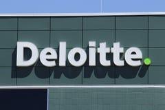 Dayton - Około Kwiecień 2018: Miejscowy Deloitte opodatkowywa i doradczy biuro Deloitte jest wielonarodowym usługiego fachowe sie fotografia royalty free