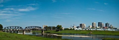 Dayton-Serien-Brücke Pano Stockfotografie