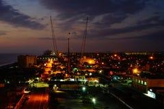 Daytona海滩太阳上升 免版税库存图片