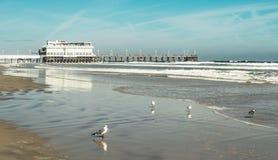 Daytona海滩的船坞 免版税库存照片