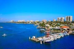 Daytona海滩在从口岸橙色美国的佛罗里达 免版税库存照片