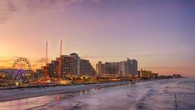 Daytona海滩,佛罗里达地平线  免版税库存照片