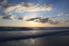 海滩daytona日出 库存照片
