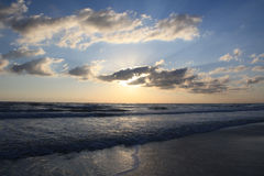 восход солнца daytona пляжа Стоковое Фото