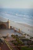从下来神色Daytona海滩,佛罗里达上的看法 免版税库存照片