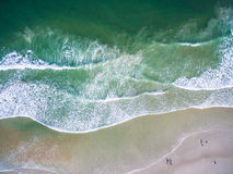 Daytona Beach από τον αέρα στοκ εικόνες