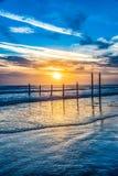 Daytona Beach, Флорида, США на восходе солнца стоковое изображение rf