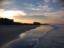 Daytona Beach bij Schemer Stock Afbeeldingen