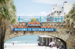 Free Daytona Beach Boardwalk And Pier,  Daytona Beach Florida Royalty Free Stock Image - 201496116