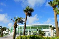 Daytona Beach conference center. And palm tree, Florida, USA Royalty Free Stock Image