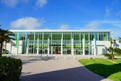 Daytona Beach conference center. And palm tree, Florida, USA Stock Photos