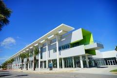 Daytona Beach conference center. And palm tree, Florida, USA Royalty Free Stock Photo