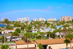 Daytona Beach in de antenne van Florida bij Havensinaasappel Stock Foto