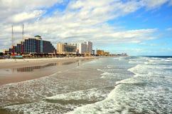 Daytona Beach e mar Fotos de Stock Royalty Free