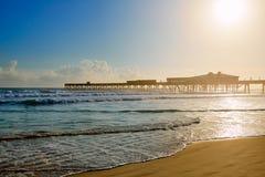 Daytona Beach em Florida com cais EUA Imagem de Stock Royalty Free