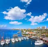 Daytona Beach em Florida do porto E.U. alaranjados Fotos de Stock Royalty Free