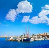 Daytona Beach em Florida do porto E.U. alaranjados Imagem de Stock Royalty Free