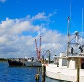 Daytona Beach em Florida do porto E.U. alaranjados Fotografia de Stock Royalty Free