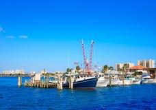 Daytona Beach em Florida do porto E.U. alaranjados Imagem de Stock