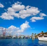Daytona Beach en Floride du port USA oranges Photographie stock libre de droits