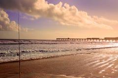 Daytona Beach en la Florida con el embarcadero los E.E.U.U. Foto de archivo libre de regalías