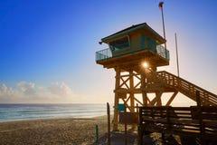 Daytona Beach en la torre los E.E.U.U. del baywatch de la Florida Imagen de archivo