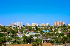 Daytona Beach in Florida-Antenne an der Hafen-Orange Lizenzfreies Stockfoto