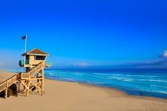 Daytona Beach in Florida baywatch tower USA Stock Image